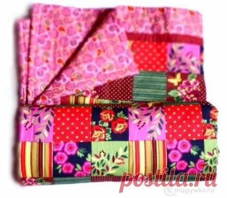 Большое лоскутное одеяло - купить | Лоскутные одеяла (пэчворк) | HANDMADE интернет-магазин