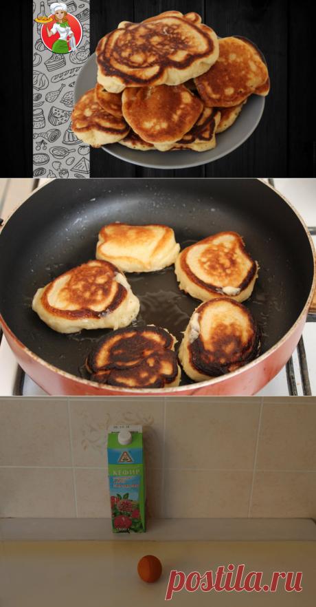 Муж научил делать пышные оладьи: греть кефир и мешать в одном направлении | Рецепты от Джинни Тоник | Яндекс Дзен