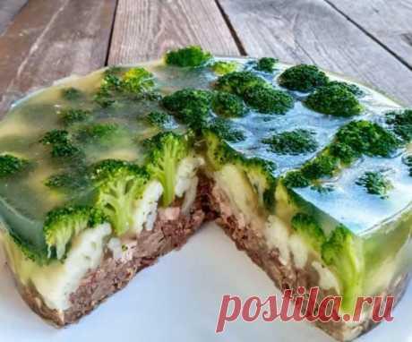 Закусочный мясной торт «Леший»