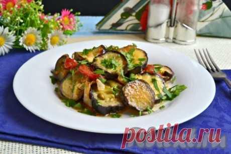 Баклажаны с помидорами и сыром в мультиварке - 8 пошаговых фото в рецепте