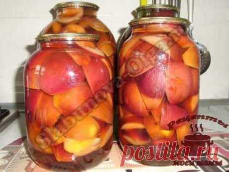 Яблоки на зиму в сиропе. Рецепт. Фото