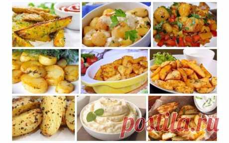 Топ-9 Самых вкусных рецептов приготовления блюд из картофеля - interesno.win Очень полезная подборка рецептов. 1. Запеченный картофель с приправами и зеленью Ингредиенты:...