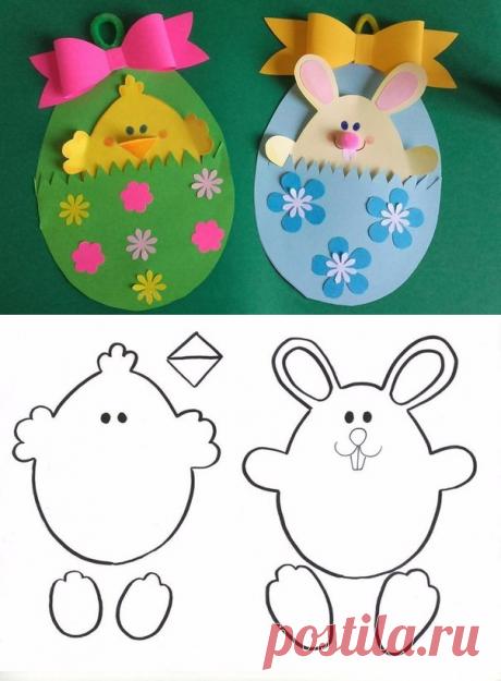 Идеи поделок к Пасхе с шаблонами - Поделки с детьми | Деткиподелки