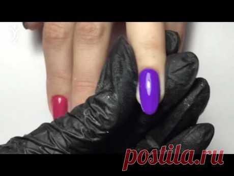Опил 4-х форм на натуральных ногтях. Квадрат, мягкий квадрат, овал и миндаль