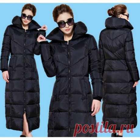 Длинное теплое пальто