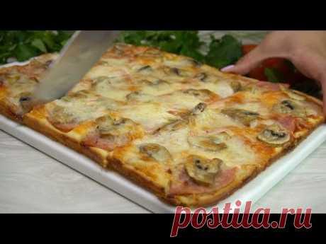 Пицца из жидкого теста Все смешали и в духовку