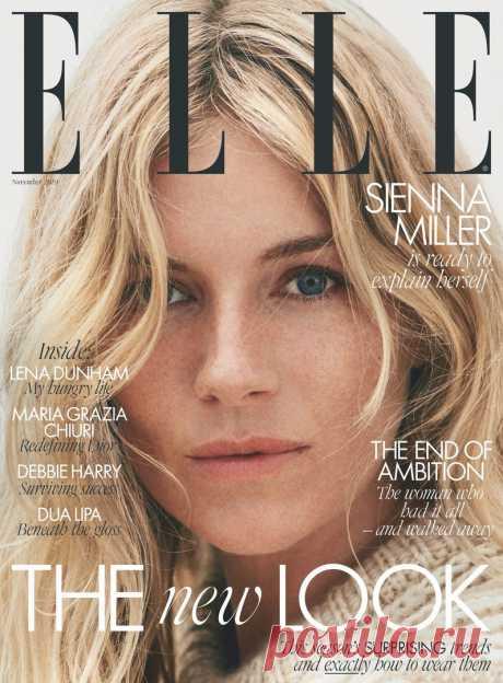 Сиенна Миллер на обложке журнала ELLE UK, 2019