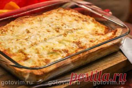 Пирог из лаваша с картошкой и сыром.