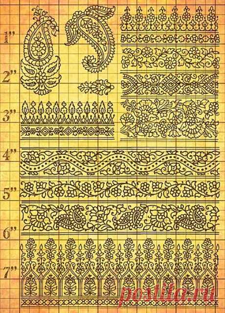 background grid is 1\/4 inches Paisley Patterns