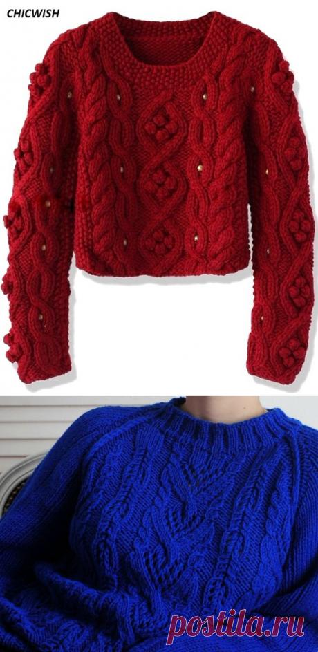 Два пуловера спицами