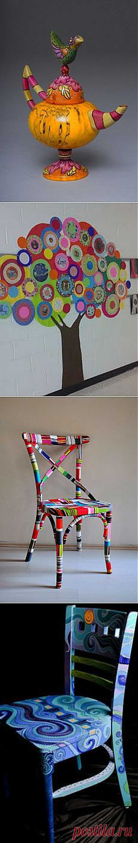 colorful Thonet dining chairs (custom order)