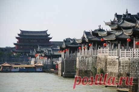 Древний плавающий мост Гуанцзы - Путешествуем вместе