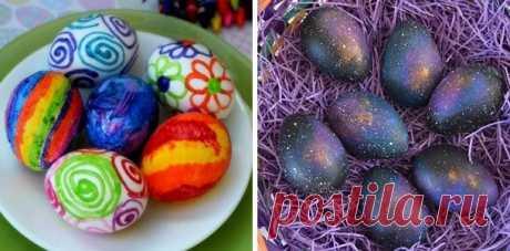 Как покрасить яйца к Пасхе. Мастер-классы