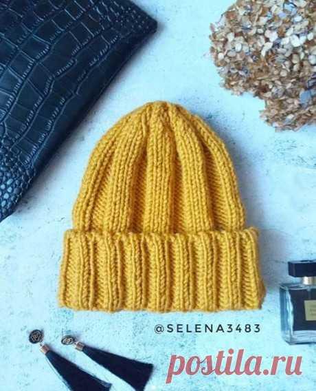 ЯРКАЯ быстро – шапка спицами, Вязание для детей