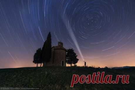 Tuscany, Italy. The author of a photo is Nikolay Horoshkov: nat-geo.ru\/photo\/user\/118935\/ Good night!