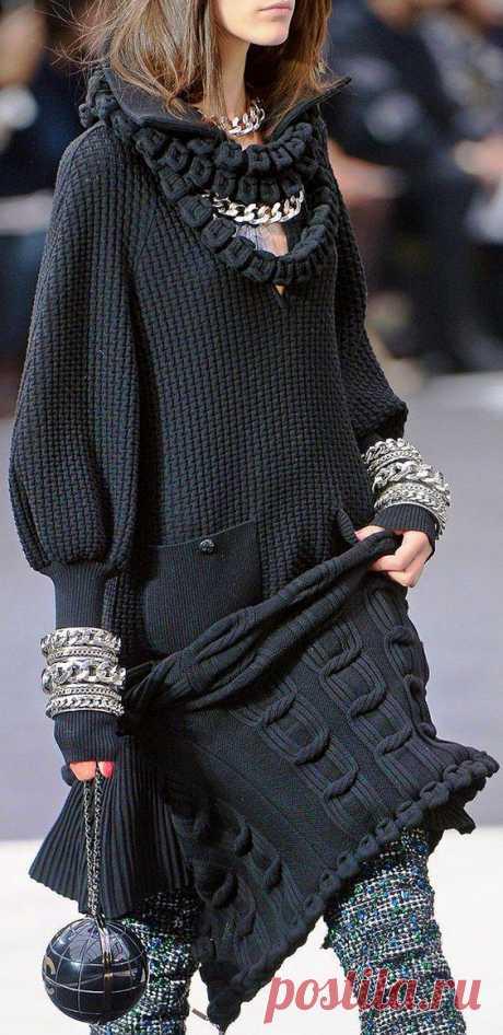 Тёплые фантазии вязаной моды: 55 экстравагантных и эффектных нарядов - Ярмарка Мастеров - ручная работа, handmade | KLeding