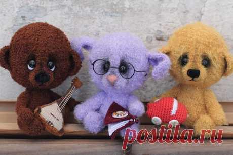 Мишка, зайка и другие - МК по вязанию игрушек - Форум почитателей амигуруми (вязаной игрушки)