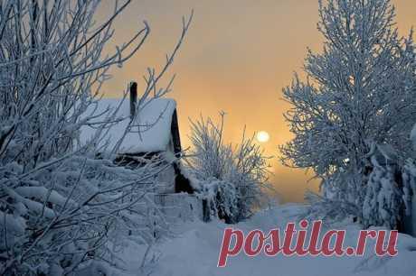 Сказочно-прекрасная зима в деревне