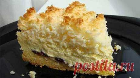 Потрясающий пирог «Кудряшкин» с творожной начинкой. Покорит Вас своим вкусом и нежностью!
