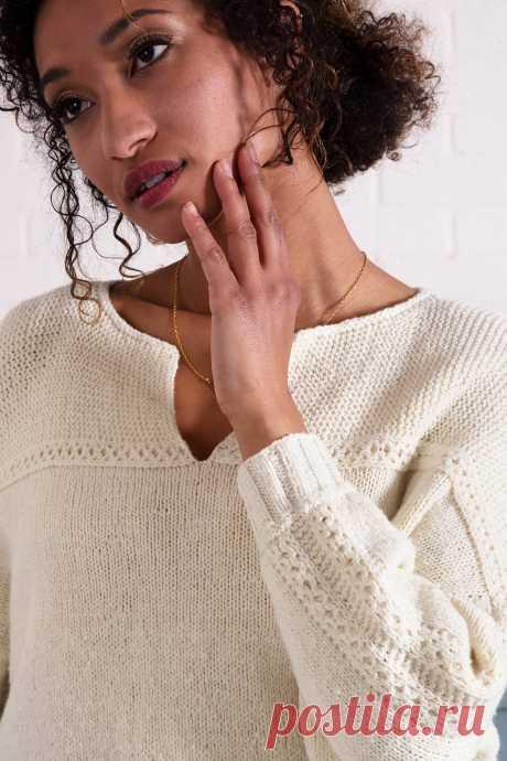 Пуловер с кокеткой Sentosa - Вяжи.ру
