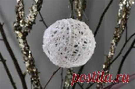 Декоративные новогодние шары своими руками