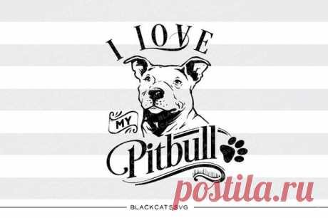 I love my Pitbull -  SVG file Cutting File Clipart in Svg, Eps, Dxf, Png for Cricut & Silhouette I love my Pitbull - SVG file This is not a vinyl, the file contains only digital files, and no material items will be shipped. The item includes a version for black / dark color This is a digital download of a word art vinyl decal cutting file, which can be imported to a number of paper crafting programs like Cricut Ex