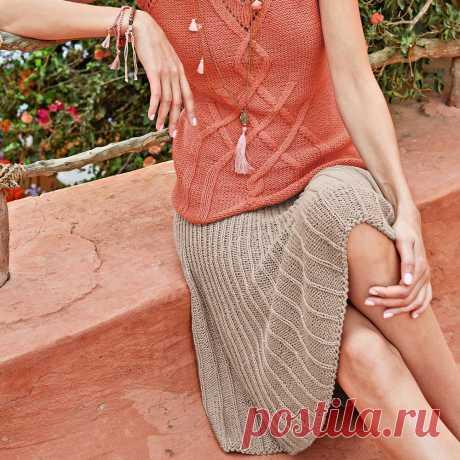 La falda-kl±sh - el esquema de la labor de punto por los rayos. Tejemos las Faldas en Verena.ru