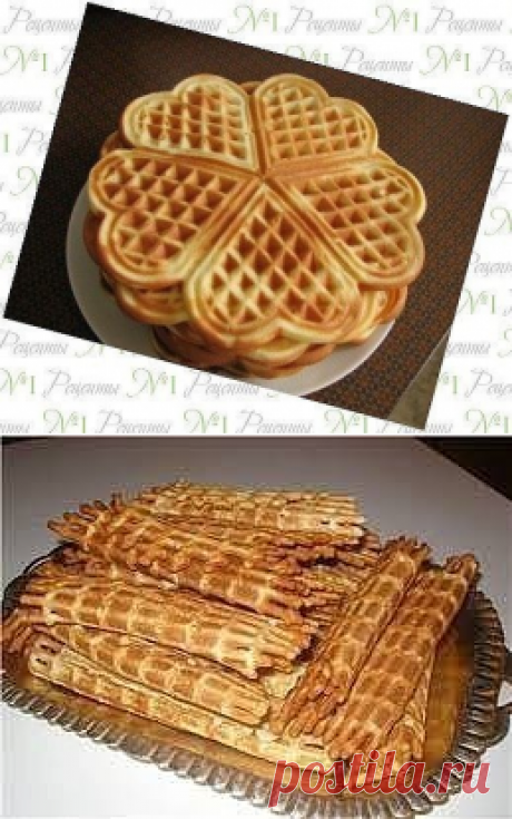 30 рецептов вафель для электровафельницы | Вкусные рецепты