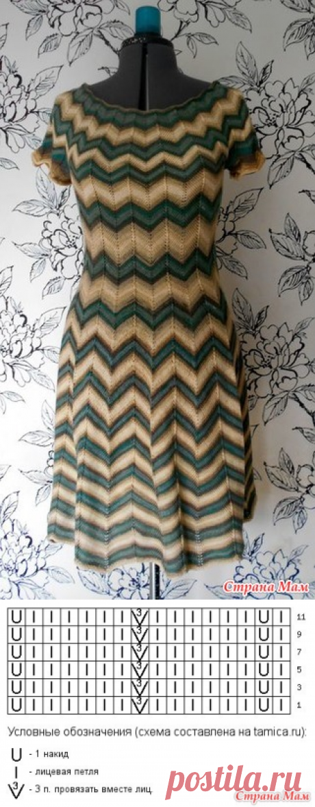 Миссони. Платье спицами - Вязание - Страна Мам