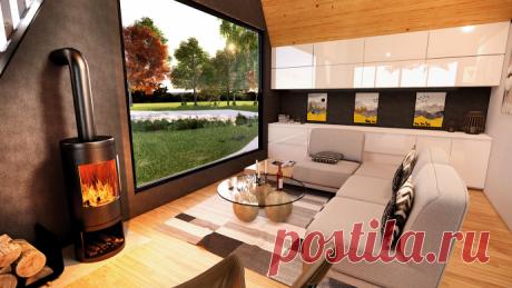 Дизайн-проект небольшого дома А-образной формы