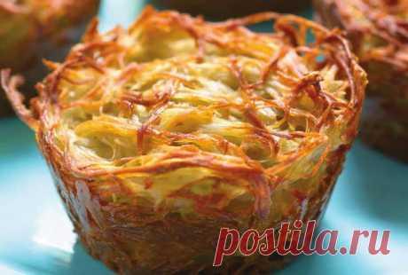 Картофельный кугель, порционный.