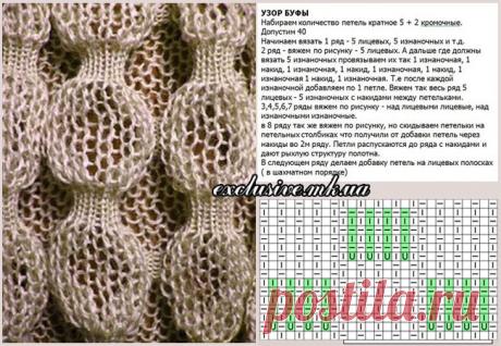 Объемные и красивые узоры спицами в копилочку (8 вариантов) | 38 рукоделок | Яндекс Дзен
