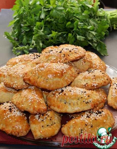 Греческие пирожки Котопитакя из теста куру Кулинарный рецепт