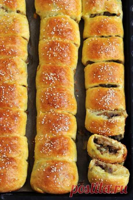 Пирог с капустой, клюквой и грибами | Четыре вкуса