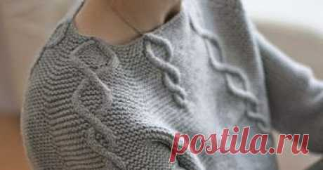 Три пуловера (вязание спицами)       Повелась я на этот серый пуловер, а потом нашла схему к нему. На схеме целых 3 пуловера, один из которых мужской :-)