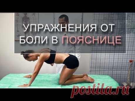Упражнения при боли в пояснице, зарядка от межпозвоночной грыжи в пояснице. Игнатьев Радион.