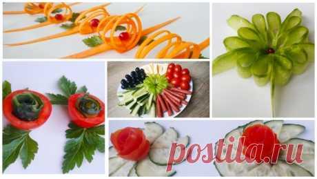 Украшения из овощей на праздничный стол — Кулинарная книга