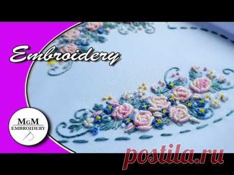 Embroidery: Rococo for beginners | Вышивка: Рококо для начинающих