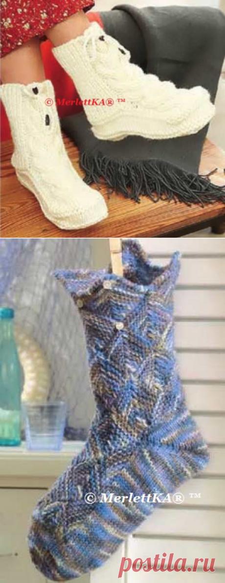 Вязание носков и обуви - идеи новогодних подарков
