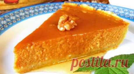 Вкуснейший тыквенный пирог с медом и орехами