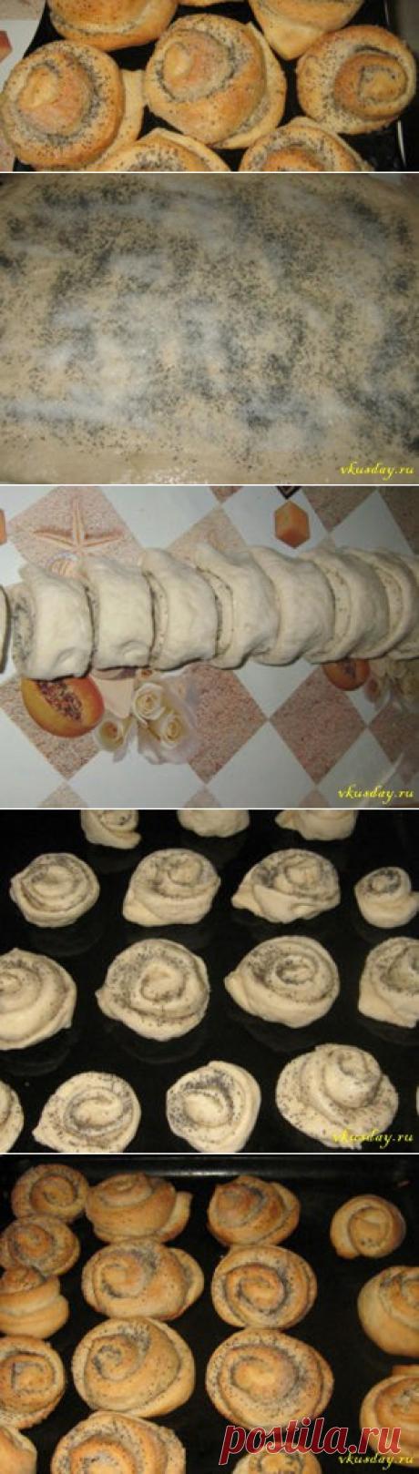 Булочки с маком - рецепт - Вкусный день   Вкусный день
