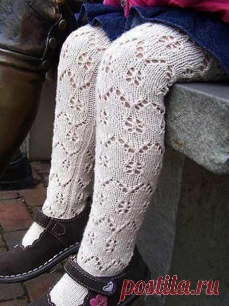 Вязание для детей, колготки спицами