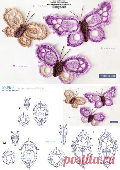 Невероятные бабочки крючком