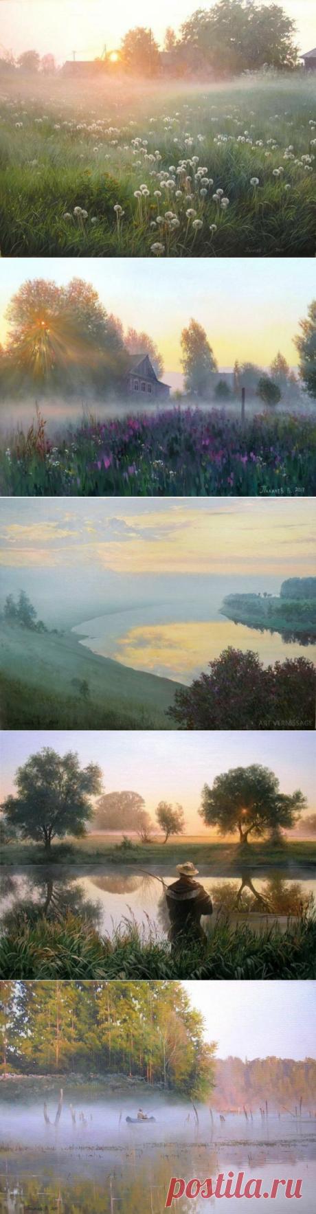 Очень русские пейзажи Вячеслава Палачева .