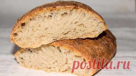 Домашний пористый хлеб с хрустящей корочкой. Тесто даже вымешивать не надо, очень простой рецепт | IrinaCooking | Яндекс Дзен