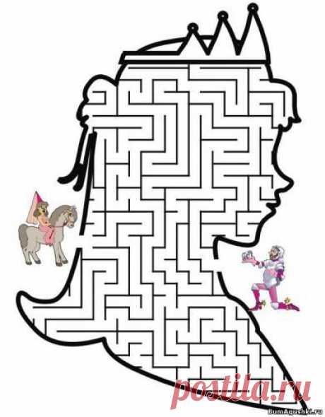 Королева - Лабиринты - Дошкольное развитие ребенка - БумАгушки - детские раскраски и многое другое