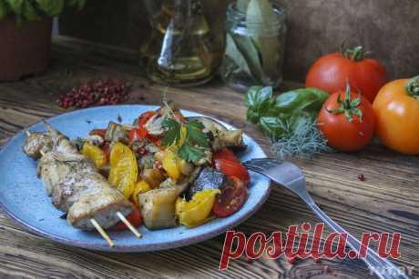 Готовим по ПП рецептам: запеченные овощи скуриным шашлыком, творожная запеканка идиетические эклеры