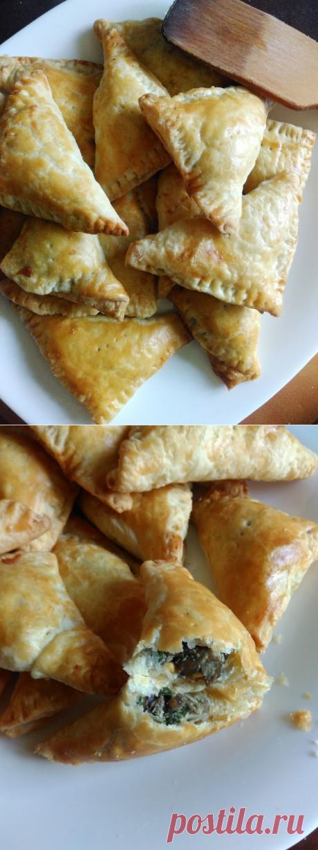 Слойки с опятами — Кулинарная книга - рецепты с фото