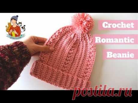 Crochet Easy Romantic Beanie / Beginner Friendly