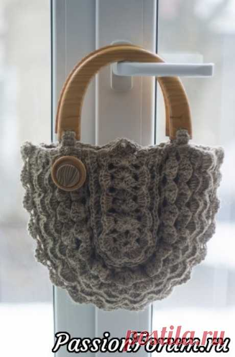 Джутовая сумка крючком